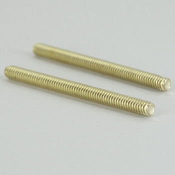 2in Long X 8/32 Threaded Unfinished Brass Stud