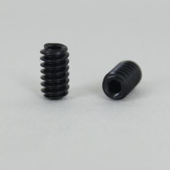 1/4in. Long X 6/32 Threaded Black Steel Cup Point Socket Set Screw