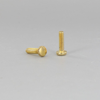 6/32 Thread Brass Plated Finish 1/2in. Long Thumb Screw