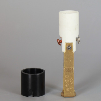 3-1/8in Height Porcelain E-12 Base Damp Location Rated Lamp Socket