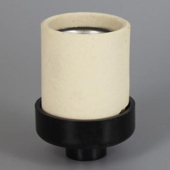 Unglazed Porcelain Keyless Socket with 1/8ips. Phenolic Cap