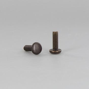 8/32 Thread Antique Brass Finish 1/2in. Long Thumb Screw