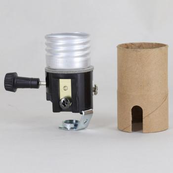 2 Circuit 3 Terminal Turn Knob Lamp Socket with 1/8ips. Hickey