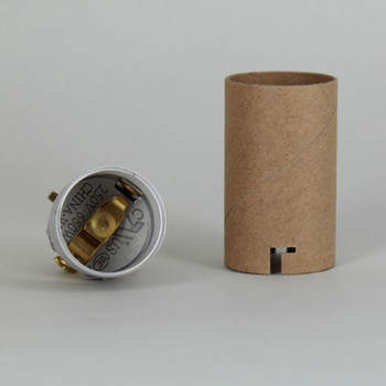 2in. E-26 Base Keyless Socket with 1/8ips. Hickey and Cardboard Insulator