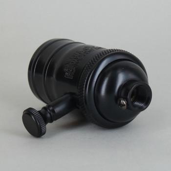 Black Powdercoated Finish Full Range Dimmer Socket with 1/8ips. Cap