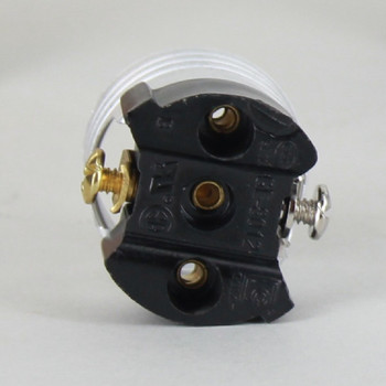 Black Powdercoated Finish Cast Uno Threaded E-26 Short Keyless Socket with 1/8ips. Cap and Set Screw