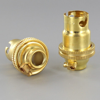 B-15 Unfinished Brass Lamp Holder with 1/8ips Thread