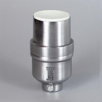 Unfinished Aluminum Modern Style Keyless Lamp Socket with 1/8ips Threaded Cap