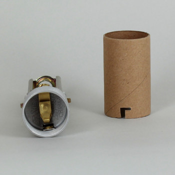 4in. - 5-3/4in. Adjustable E-26 Keyless Socket with 1/8ips. Bottom and Cardboard Insulator