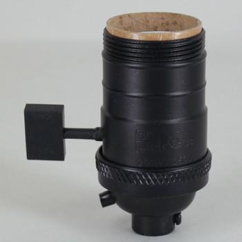 Black Powdercoated Finish E-26 Uno Threaded Single Turn Antique Style Paddle Turn Knob Socket