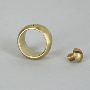 3/8in. Slip Ring with Side Screw - Slips 1/8ips Pipe - Unfinished Brass