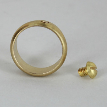 3/4in. Slip Ring with Side Screw - Unfinished Brass