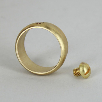 7/8in. Slip Ring with Side Screw - Unfinished Brass