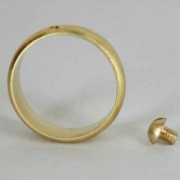 1in. Slip Ring with Side Screw - Unfinished Brass