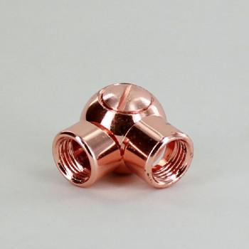 1/8IPS Female X 1/8IPS Female Threaded Polished Copper Finish Adjustable Friction Swivel
