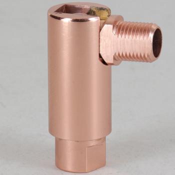 1/8IPS Threaded Adjustable 90 Degree Swivel with 360 Degree Rotation - Polished Copper Finish