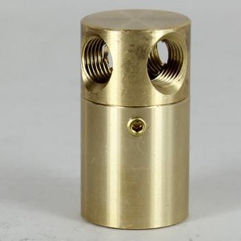 1/8ips Threaded - 7/8in Diameter Rotating 4-Way Swivel Unit With Locking Screw