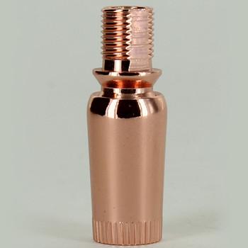 1/8IPS Threaded Brass Knurled Crimp Swivel - Polished Copper Finish