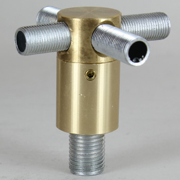 1/4ips X 1/8ips Threaded - 7/8in Diameter Rotating 4-Way Swivel Unit with Locking Screw