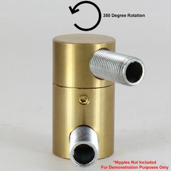 1/8ips - 7/8in X 1-19/32in Rotating Swivel Unit with Locking Screw