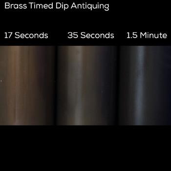Dark Brown Patina CB2 Brass / Copper Patina
