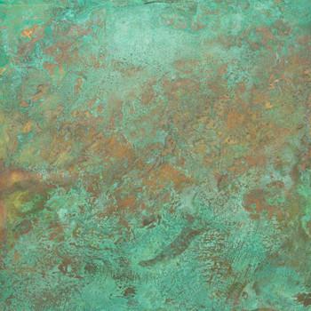 Blue Green Verde Brass/ Copper Patina