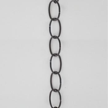 11 Gauge (3/32in.) Thick Steel Light Duty Lamp Chain - Black Powdercoat Finish