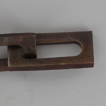 3/16in. Thick Rectangle Shaped Solid Brass Lamp Chain - Antique Bronze Finish