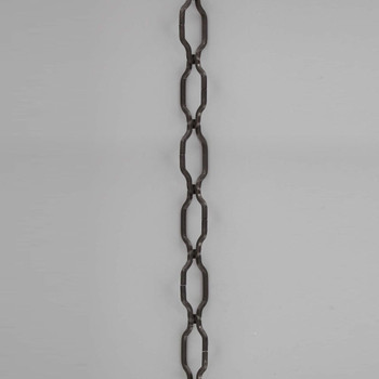 11 Gauge (3/32in.) Thick Steel Gothic Lamp Chain - Black Powedercoat Finish