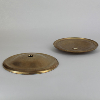 4-3/4in Unfinished Cast Brass Plain Bobesch with 7/16in slip center hole.