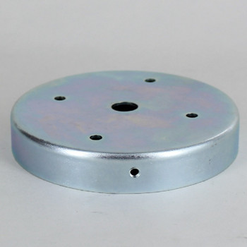 3-7/8in. O.D. Round  Mounting Bracket with 3 x 8/32 Tapped Side Holes. Zinc Plated Steel.