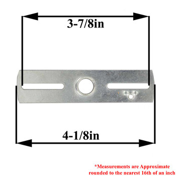 1/4ips. X 14 Gauge Cross Bar with 8/32 Tapped Ground Hole