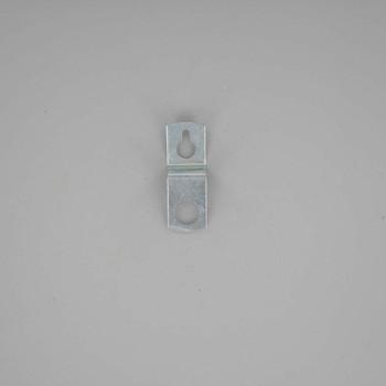 Wall Hanger Bracket - Zinc Plated with 1/8ips Slip Through Hole