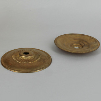 3-1/2in. Unfinished Cast Brass Flat Bobesche with Ribs