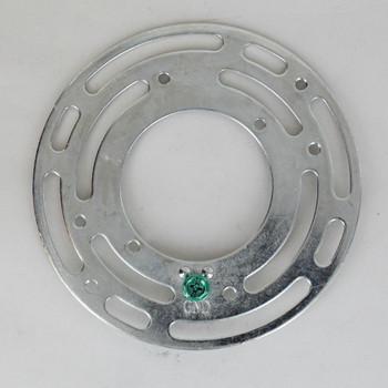 4in Diameter Round  Zinc Plated Steel Universal Mounting Crossbar.