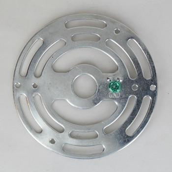 4in DIameter Round  Zinc Plakted Steel Universal Mounting Crossbar.