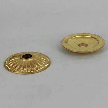 2in. Unfinished Cast Brass Ribbed Bobesche