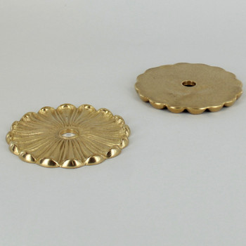 3-1/4in. Unfinished Cast Brass Flat Flower Bobesche