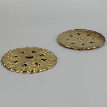 3-1/4in. Unfinished Cast Brass Flat Bobesche