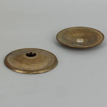 2-3/8 in. Diameter Unfinished Cast Brass Plain Bobesch with 7/16in slip center hole.