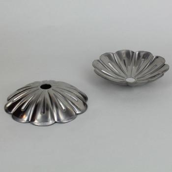 3/4in X 2-3/8in Rosette Bobesche - Unfinished Steel