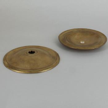 3-15/16in Diameter Unfinished Cast Brass Plain Bobesch with 7/16in slip center hole.