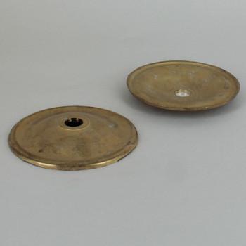 3-1/8in Diameter Unfinished Cast Brass Plain Bobesch with 7/16in slip center hole.