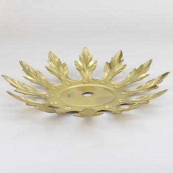 5-1/2in Diameter 12 Petal Brass Bobesch - Unfinished Brass