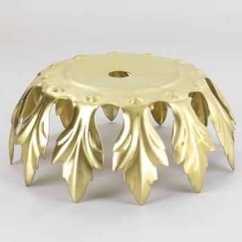 4in Diameter 12 Petal Brass Bobesch - Unfinished Brass