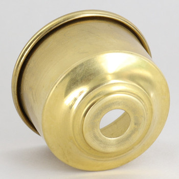 1-5/8in. Rolled Edge Cup - Unfinished Brass