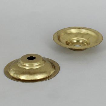 2-3/4in. Unfinished Brass Spun Stepped Bobesche