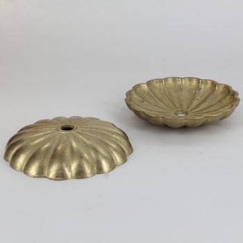 3-3/4in Diameter Brass Bobesche with 1/8ips (7/16in) Slip Center Hole.