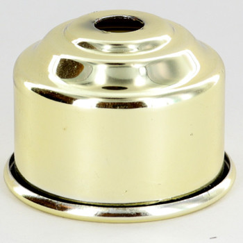 1-5/8in. Rolled Edge Cup - Brass Plated Finish