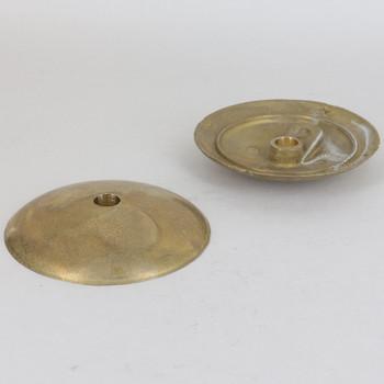 80mm (3-1/8in) Diameter Curved Cast Brass Cover/Bobesche